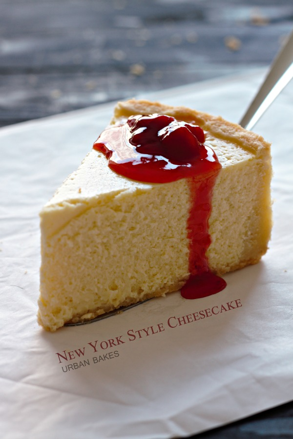 urban bakes new york style cheesecake. Black Bedroom Furniture Sets. Home Design Ideas
