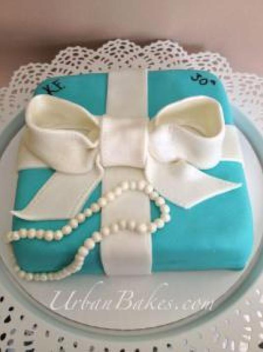 Swell Tiffany Co Cake Urban Bakes Funny Birthday Cards Online Alyptdamsfinfo